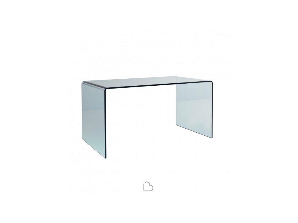 Skleněný minimalistický stůl Bridge 138x78