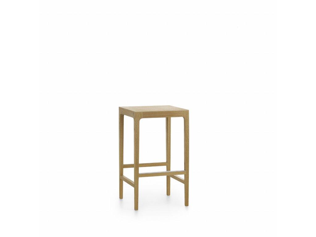 Moderní dřevěná barová židle Anna