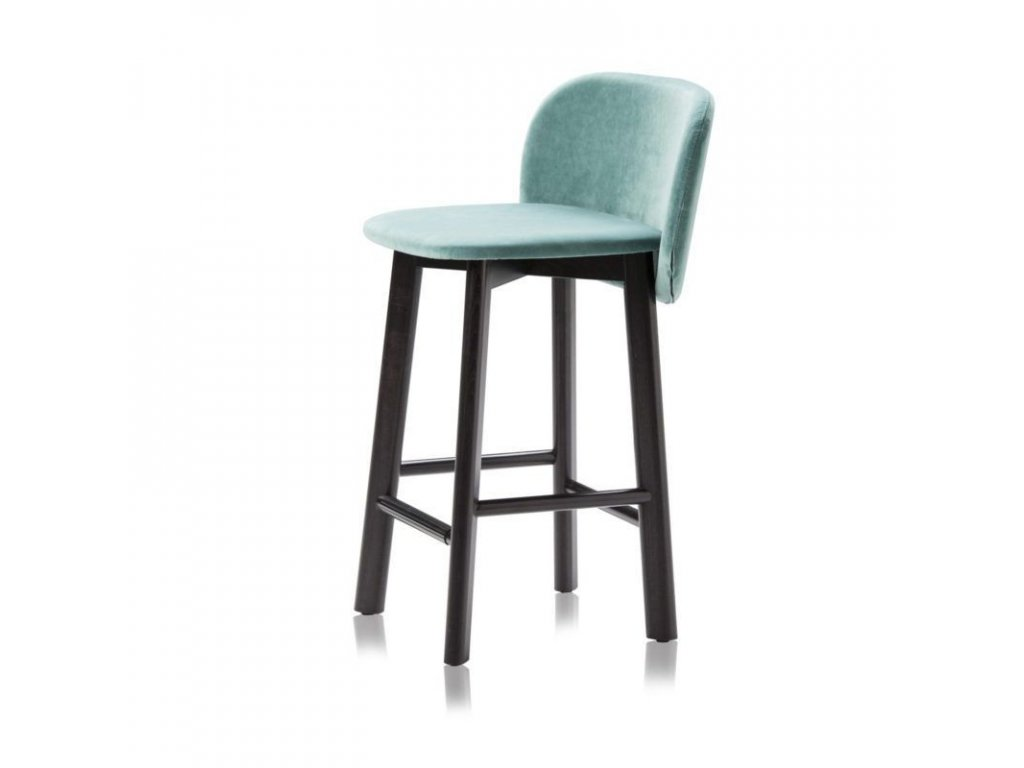 Luxusní barová židle Chips Sg na dřevěné podnoži