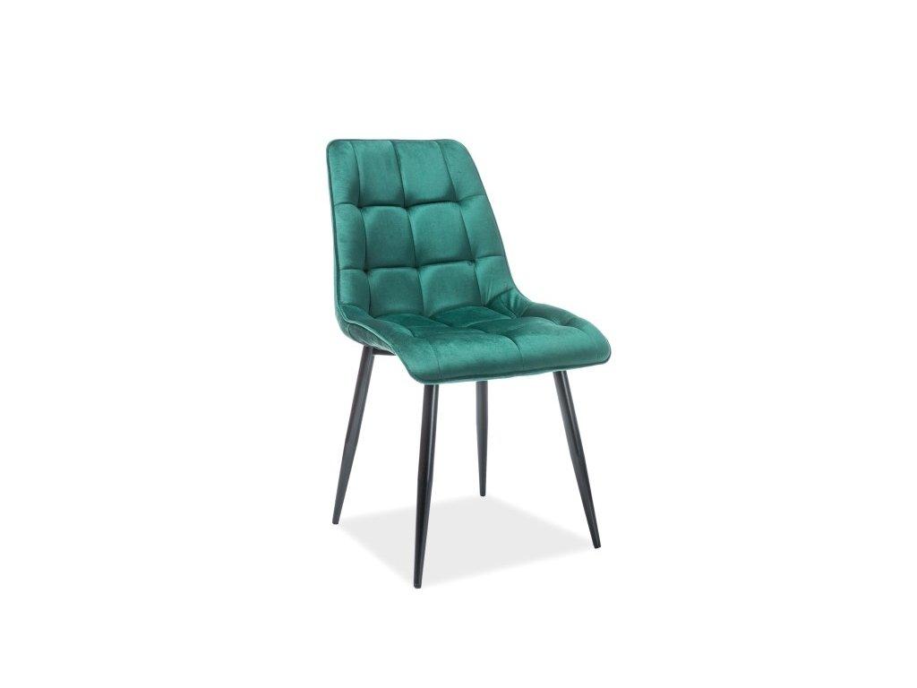 Moderní čalouněná židle Chic velvet