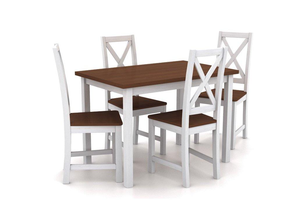 Dřevený jídelní set stůl a 4 židle B 165