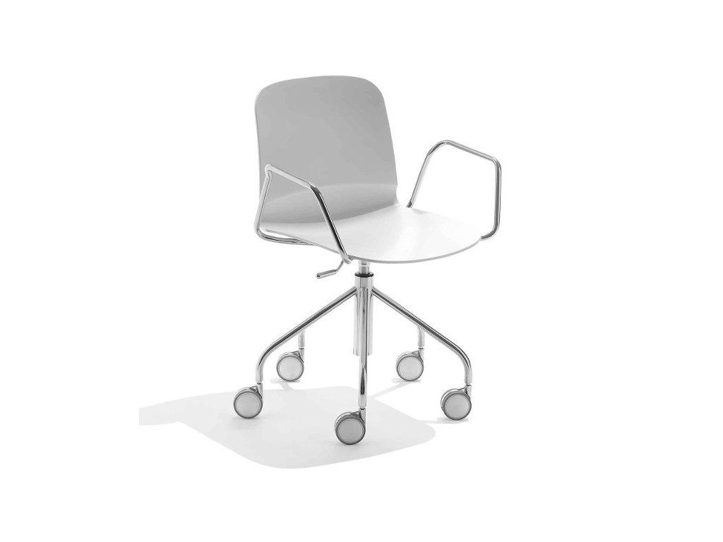 Pracovní židle na kolečkách Liú DP RS