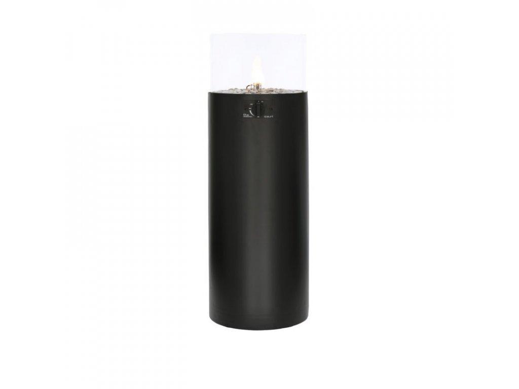 Plynová lampa s ohništěm Cosiscoop Pillar černá