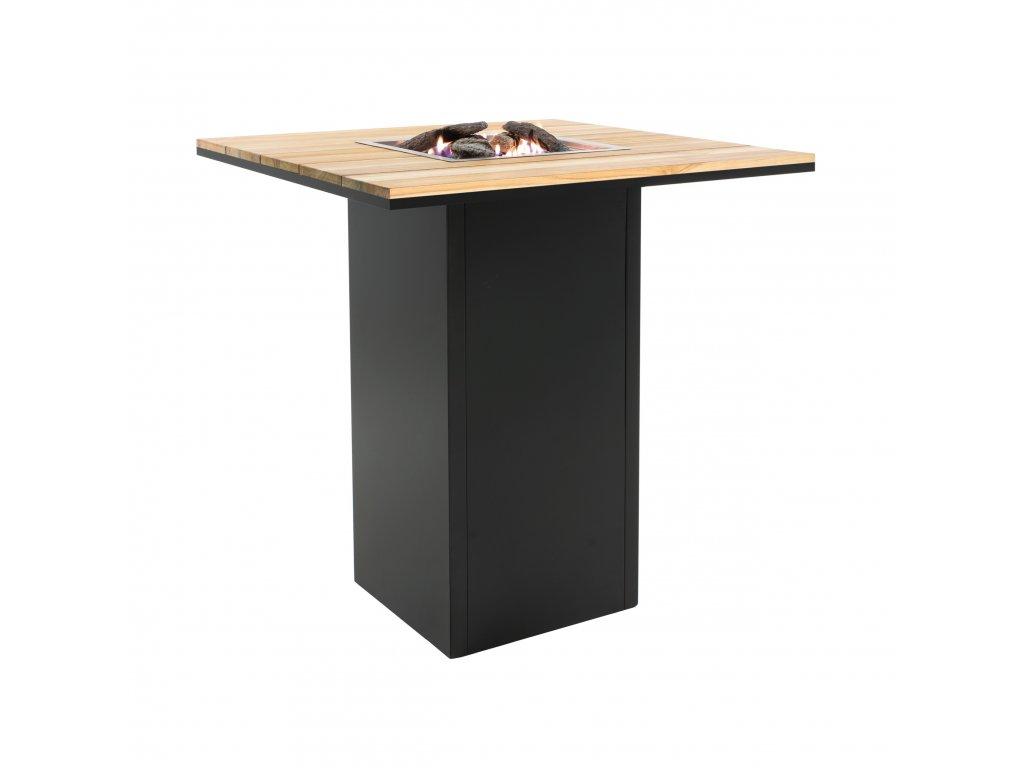 Designový barový stůl s ohništěm Cosiloft 100x100