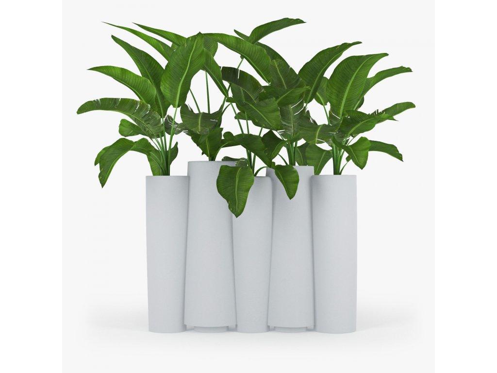 Poslední kus! Luxusní květináč Bamboo 1 zelený