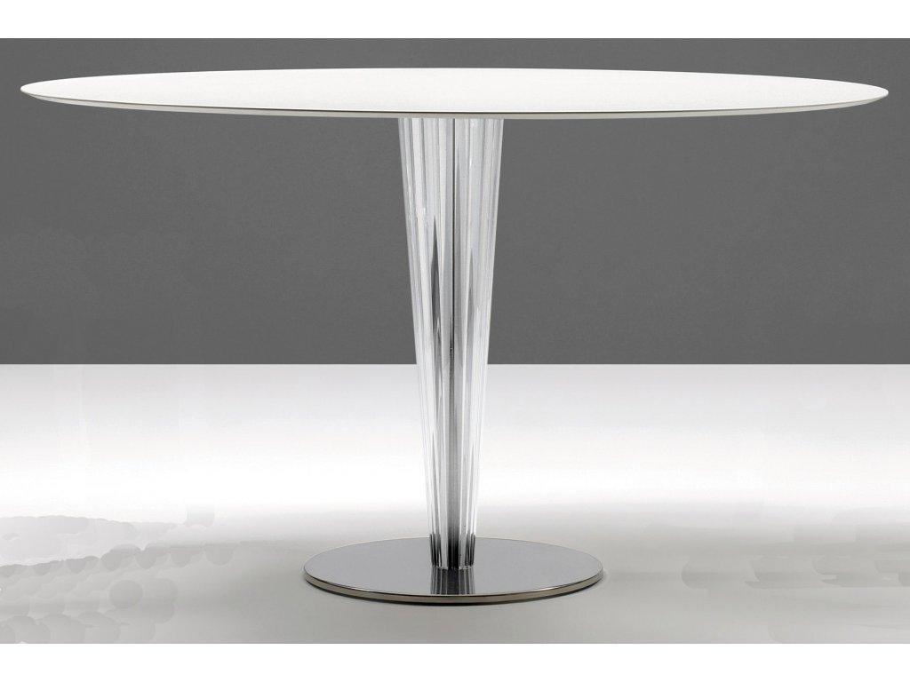 Moderní kruhový stůl Krystal pr. 130 cm
