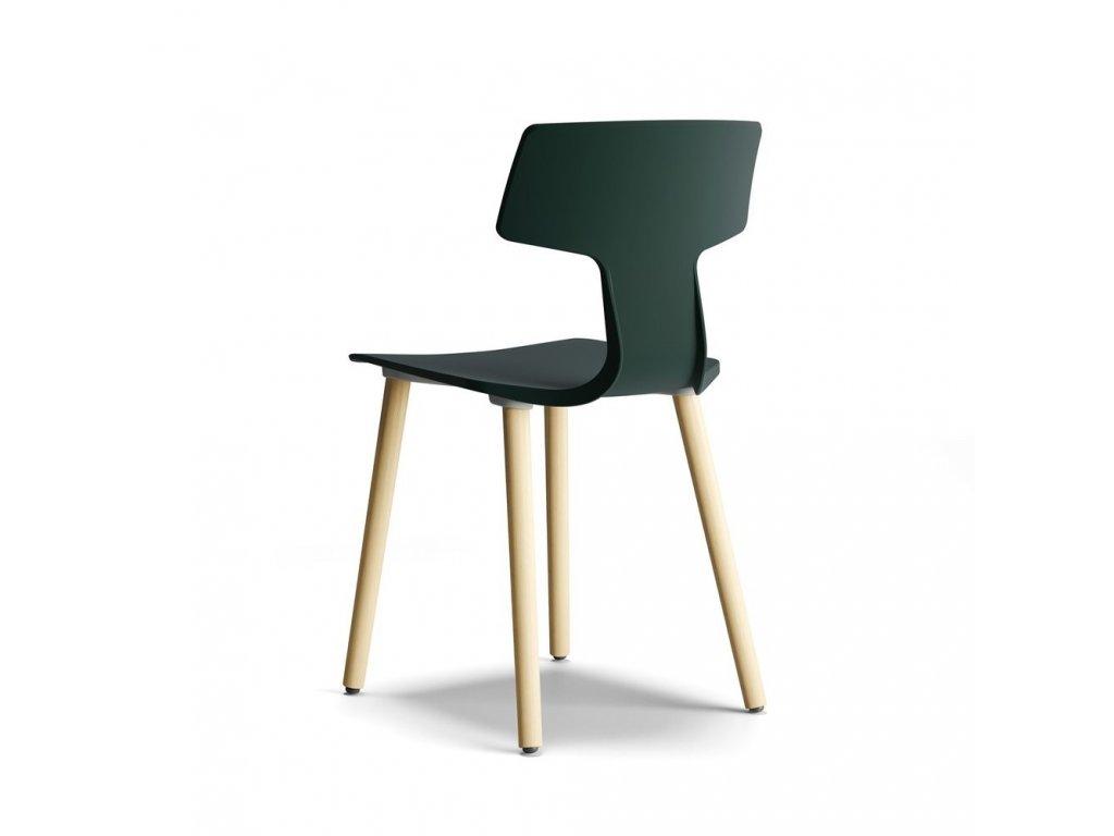 Moderní židle Split na dřevěné podnoži