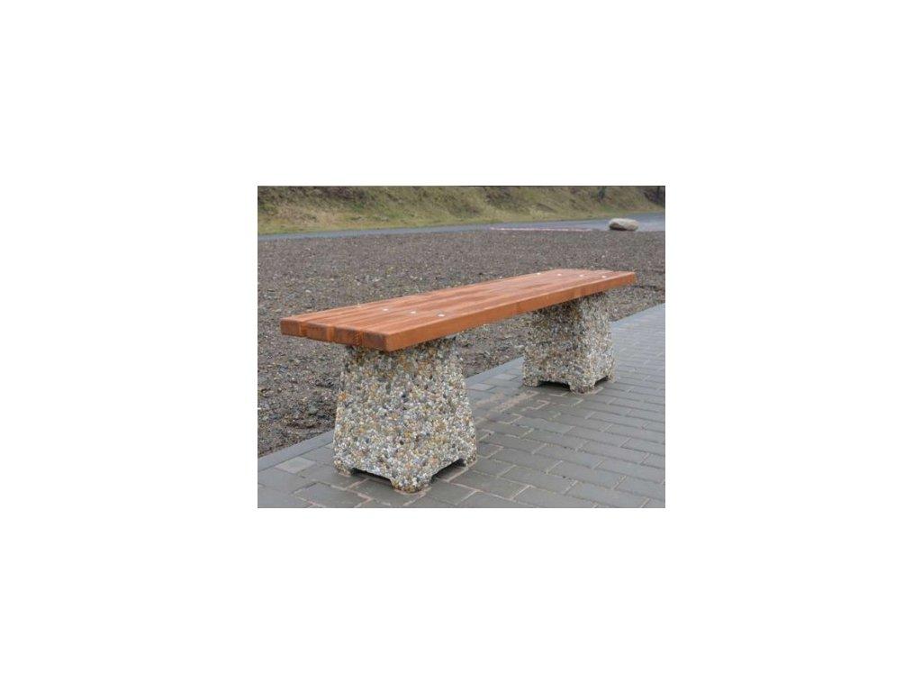 Venkovní betonová lavička Nela