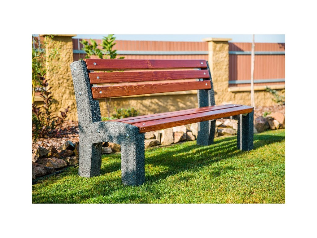 Moderní venkovní betonová lavička Lada