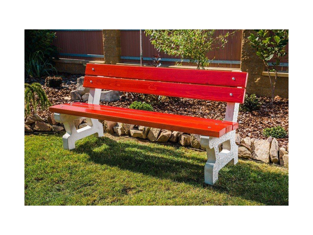 Venkovní betonová lavička New
