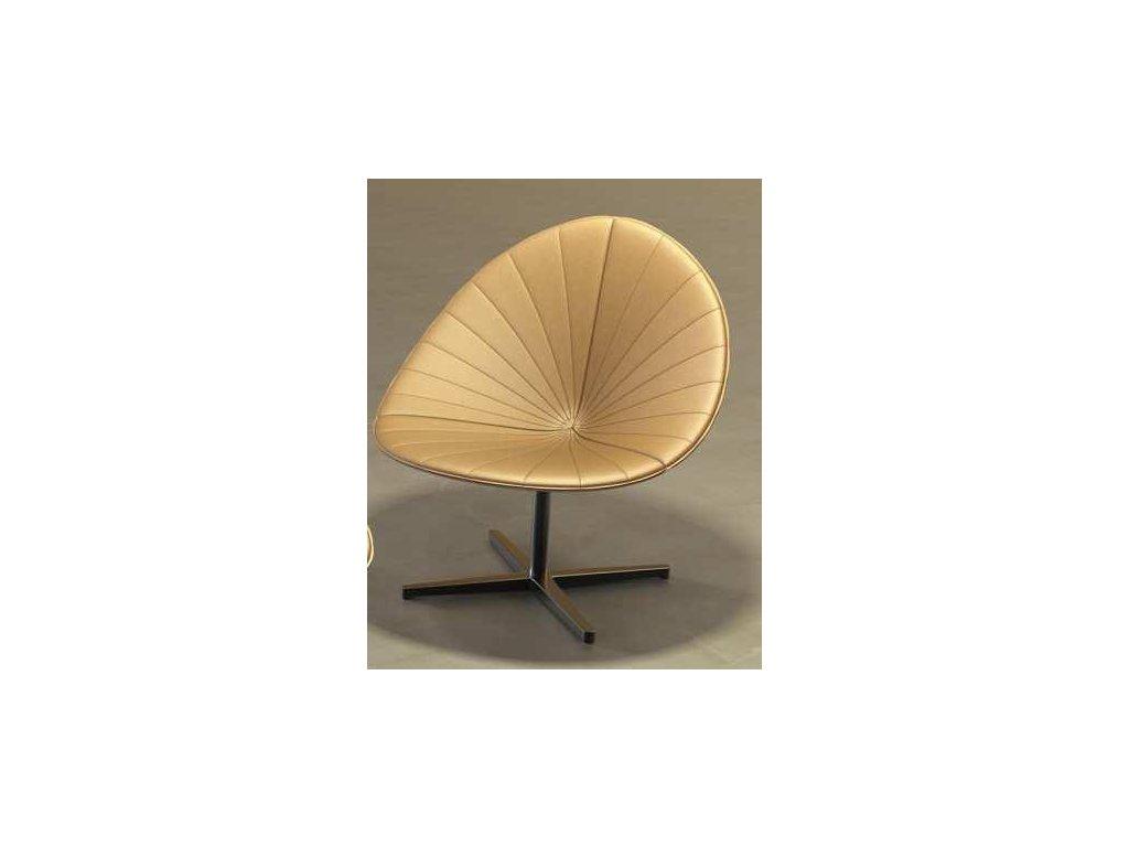 Luxusní kožené lounge křeslo Fiorile lounge plisse
