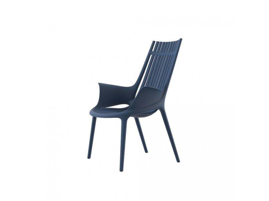 Výprodej Pohodlné záhradní lounge křeslo Ibiza 1 kus - modrá