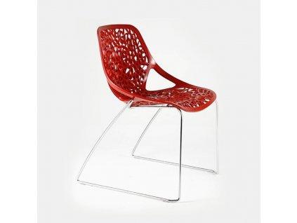 Designová židle Caprice na sáňkové podnoži