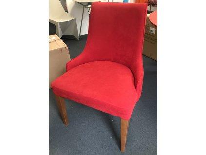 Výprodej! Stylová židle Huberta 1 kus červená