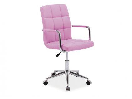 Moderní pracovní židle Q 022 na kolečkách, růžová