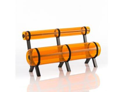 Moderní lavička Ziba transparentní