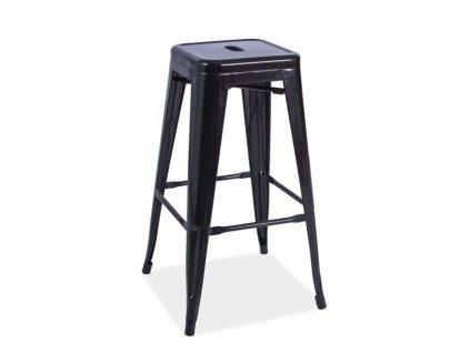 Barová židle industriálního designu Long