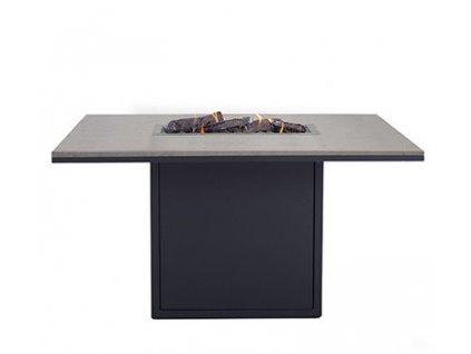 Designový jídelní stůl s ohništěm Cosiloft 120x80