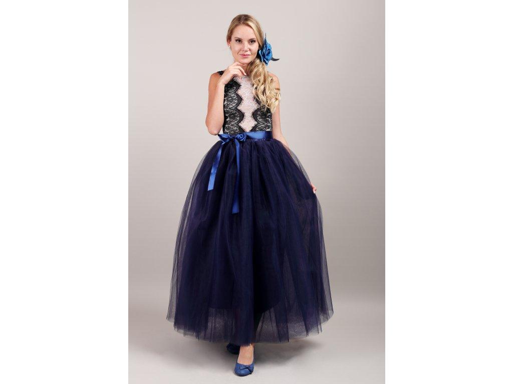 Tutu sukně tylová dámská maxi - námořnicky modrá