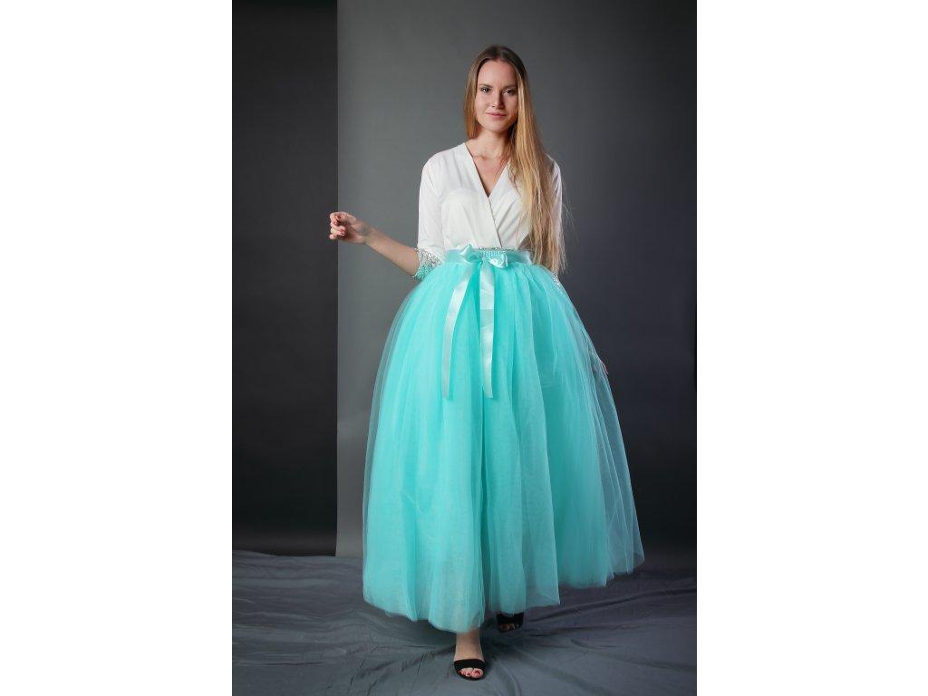 Tutu sukně tylová dámská maxi - mátová