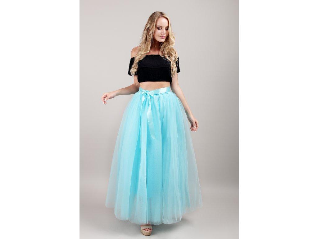 Tutu sukně tylová dámská maxi - oceán