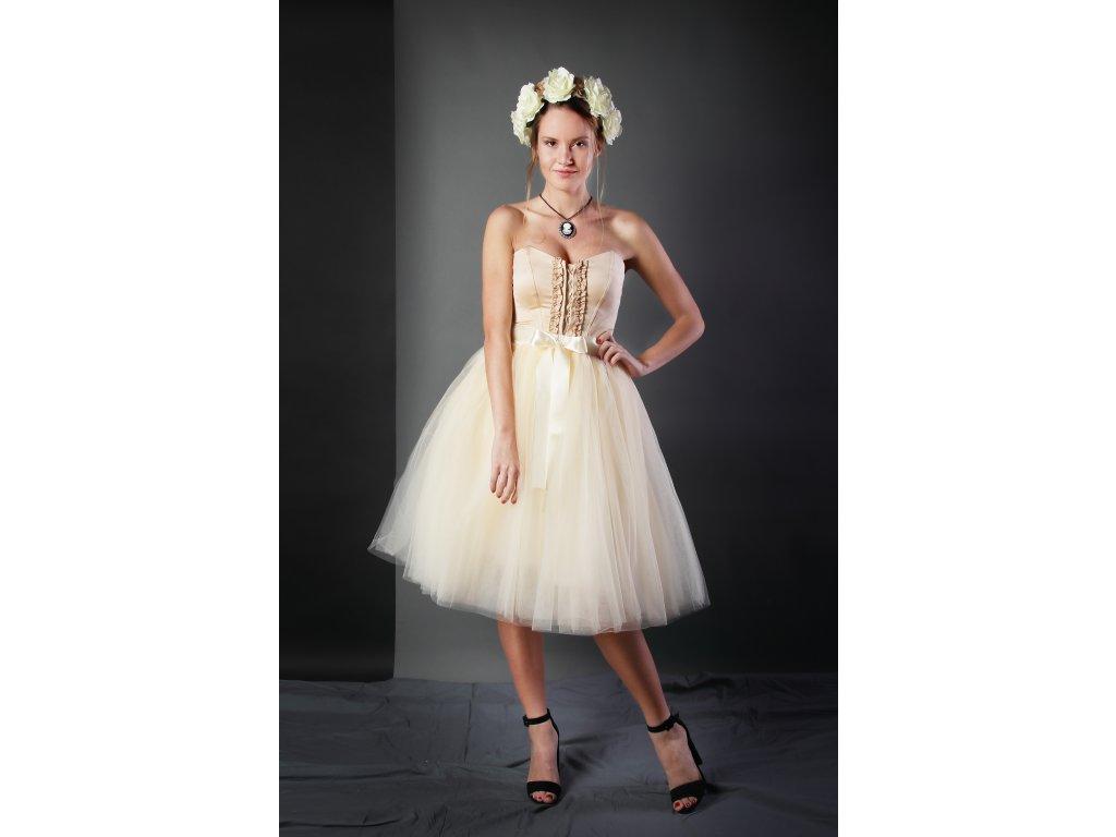 Tutu sukně tylová dámská - šampaňské - svatební