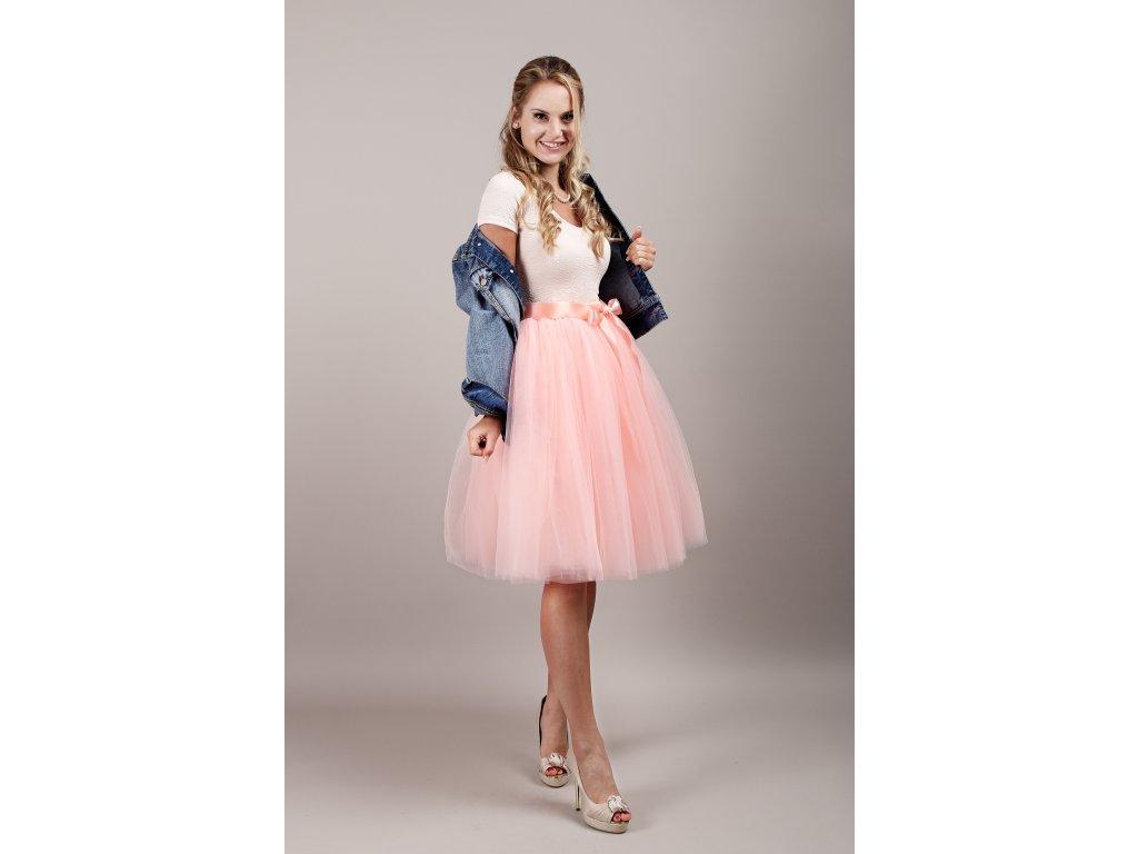 Tutu sukně tylová dámská - meruňková - družičky