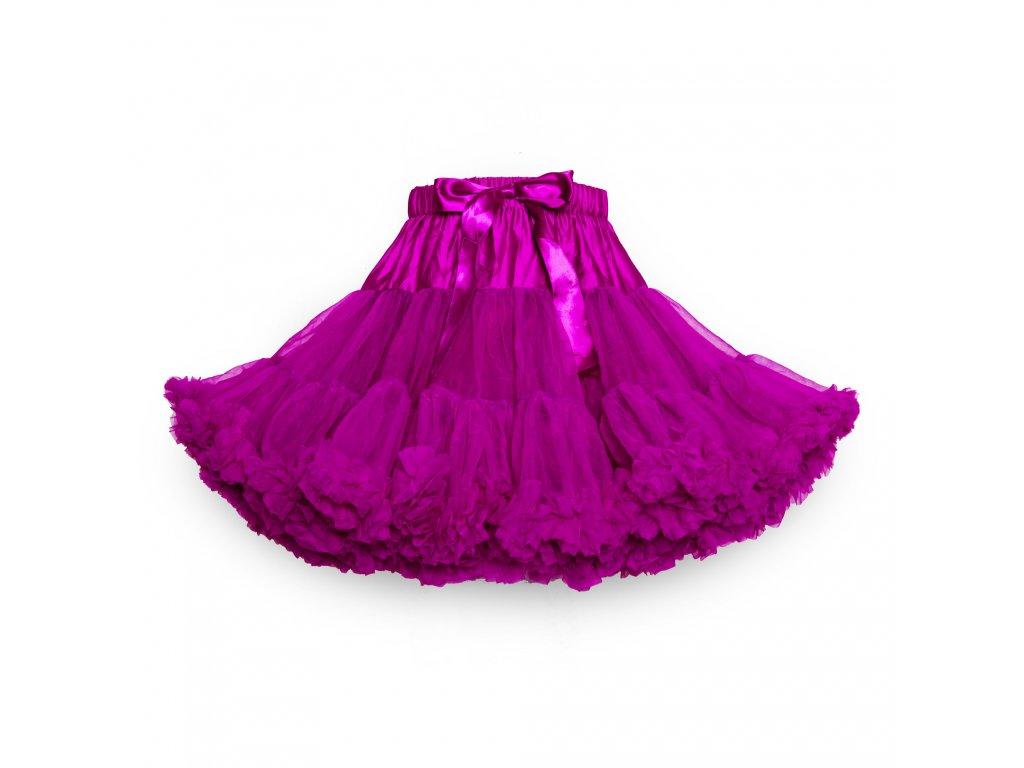Tutu sukně dámská tylová extra - fialová fuchsie