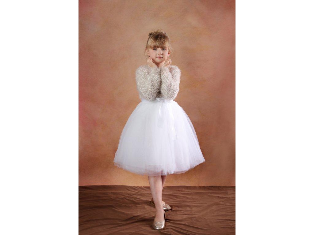Tutu sukně tylová dětská - bílá - délka 35 cm a 50 cm svatební