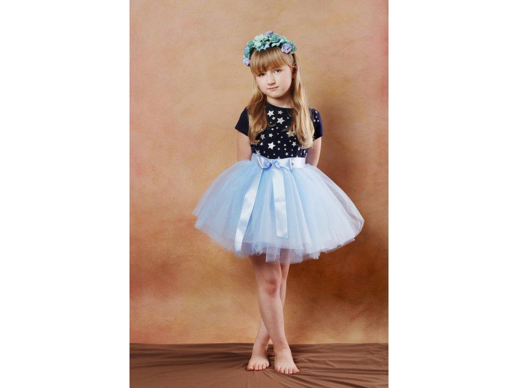 Tutu sukně tylová dětská - světle modrá- délka 35 cm