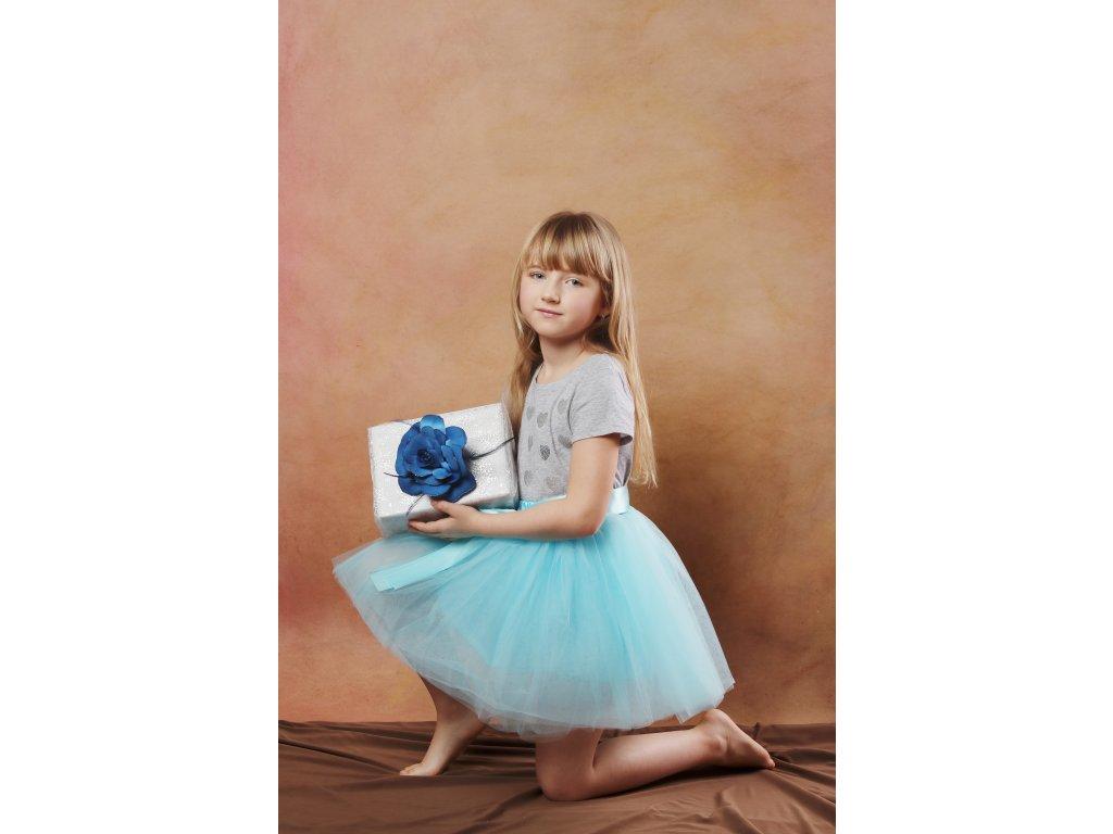 Tutu sukně tylová dětská - oceán - délka 35 cm