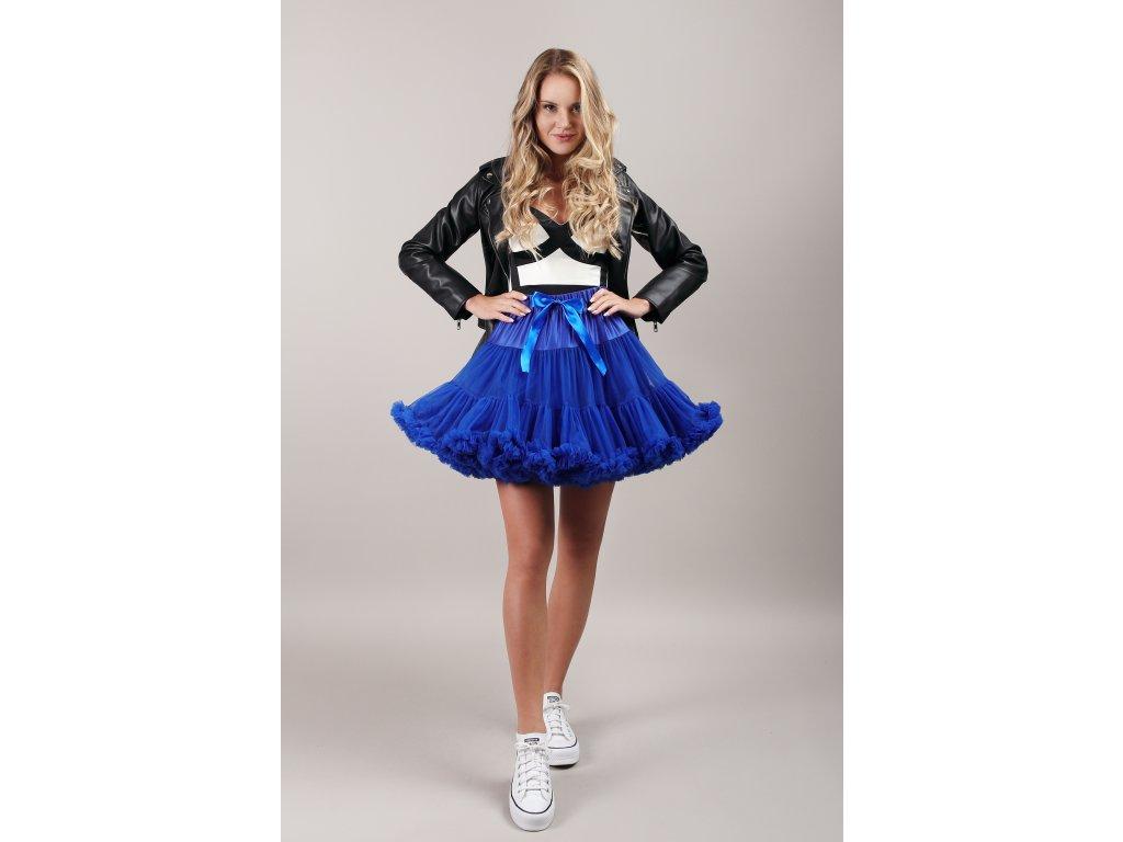 Tutu sukně dámská tylová extra - královsky modrá