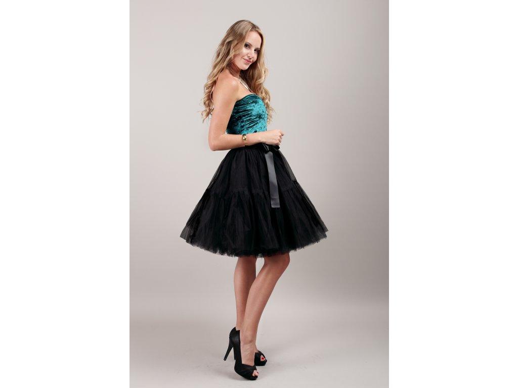 TUTU sukně tylová s kanýrem - černá