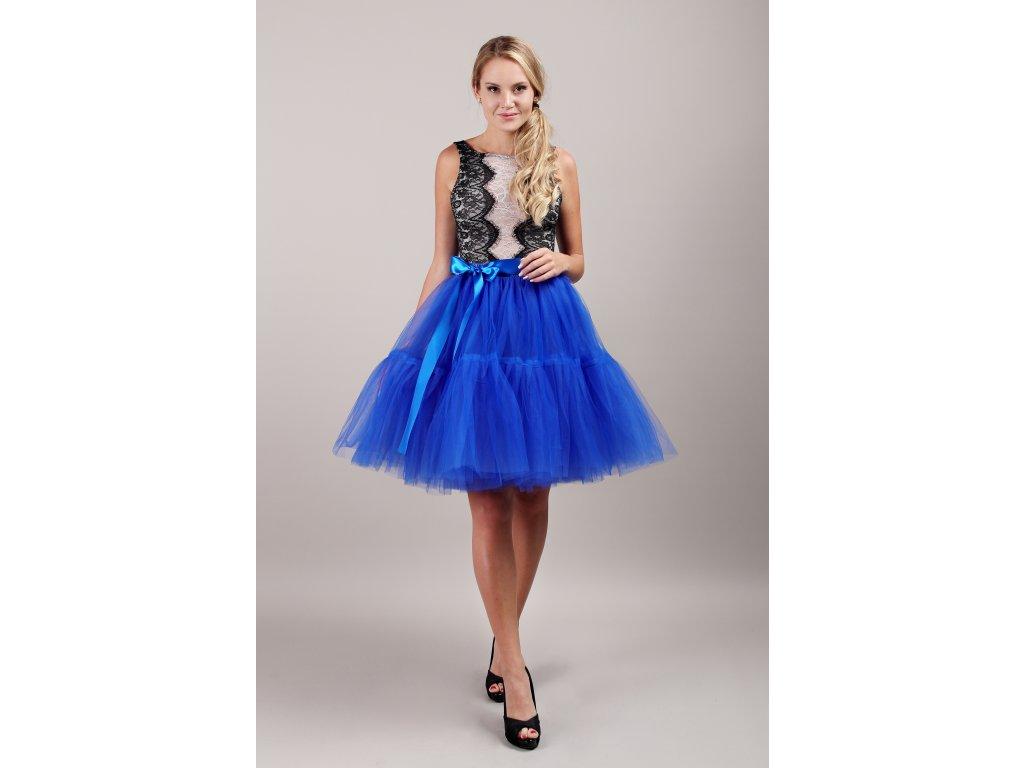 TUTU sukně tylová s kanýrem - královsky modrá