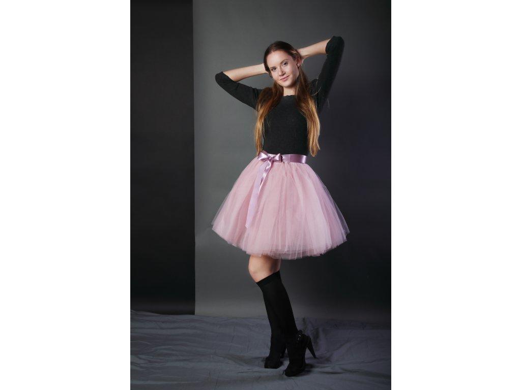 Tutu sukně tylová dámská - starorůžová
