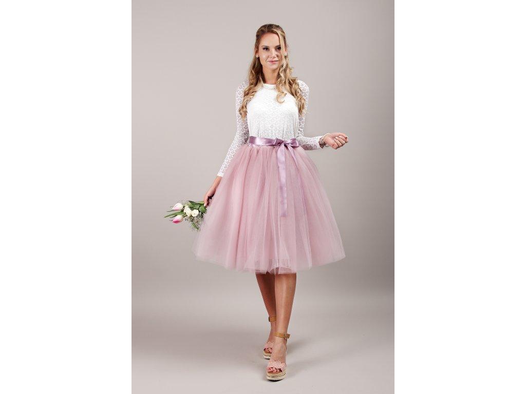 Tutu sukně tylová dámská - starorůžová - družička