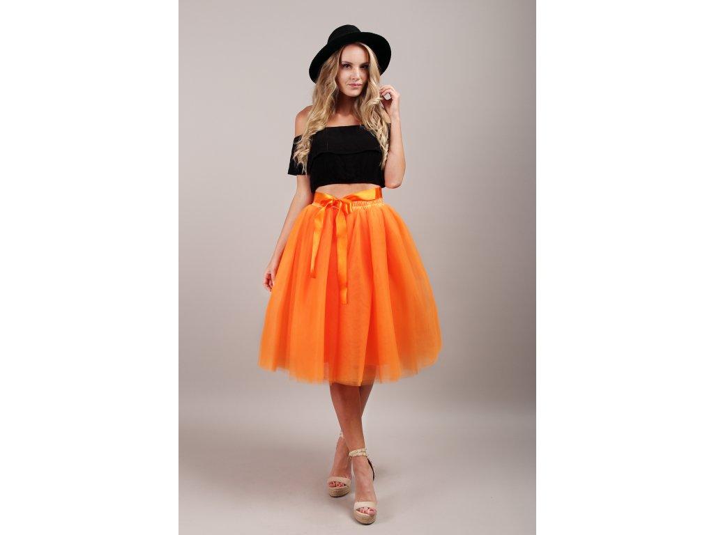 Tutu sukně tylová dámská - oranžová