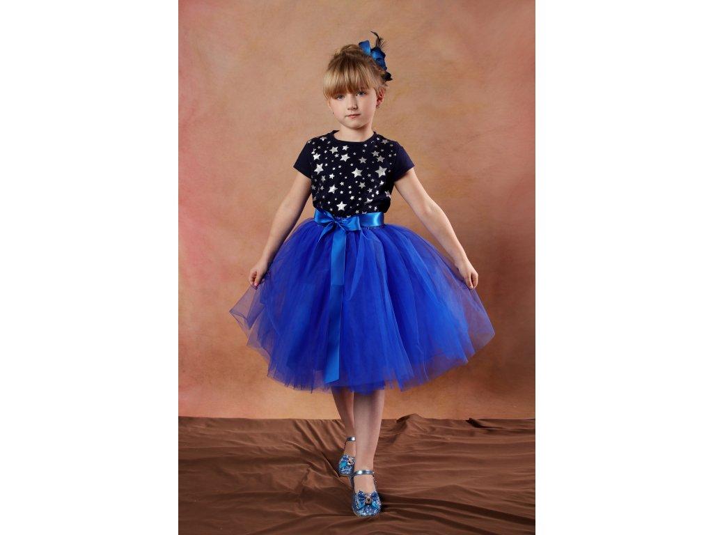 Tutu sukně tylová dětská - královsky modrá - délka 35 cm a 50 cm