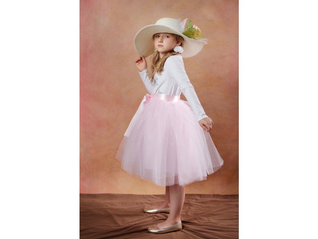 Tutu sukně tylová dětská - světle růžová - délka 35 cm a 50 cm
