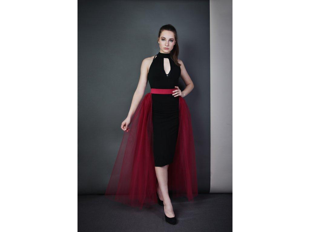 Tutu sukně - stylová vlečka - vínová
