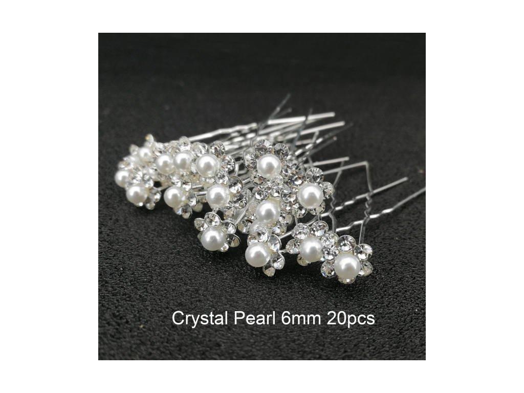 Kytičky do vlasů svatební - perličky v květu