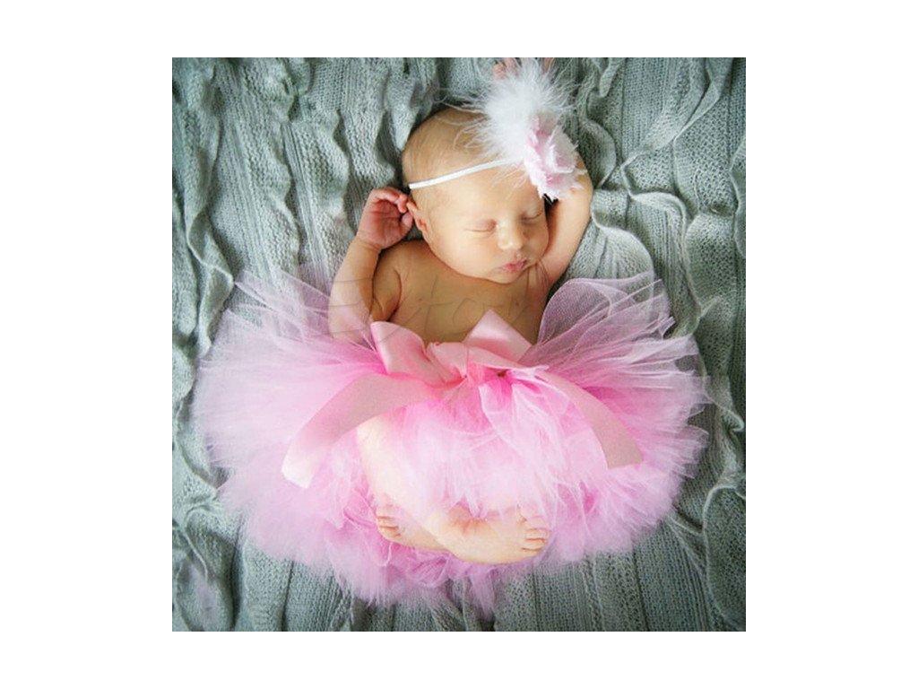 Tutu set na miminko - růžová