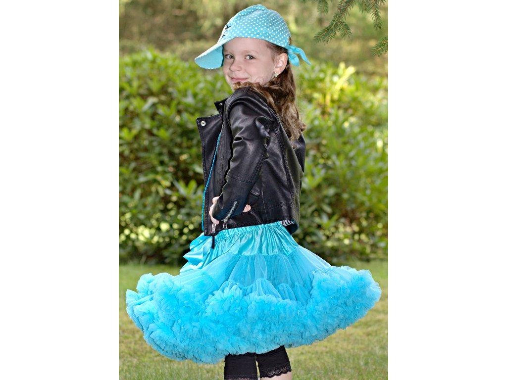 Tutu sukně dětská tylová Maxima - tyrkysová