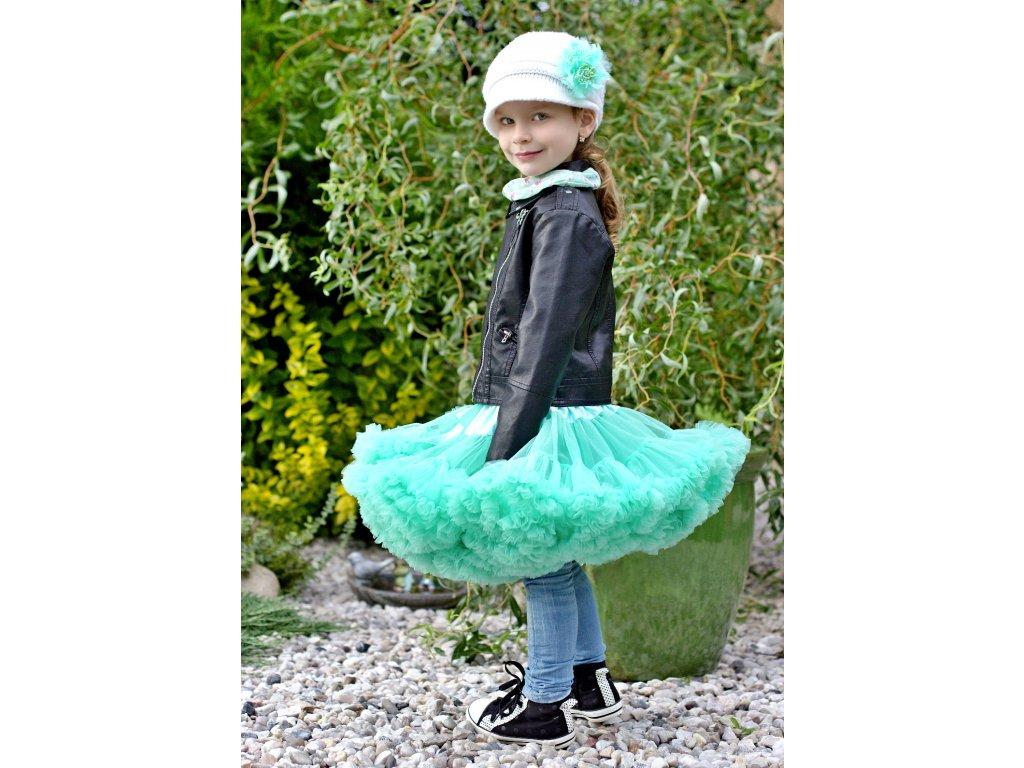 Tutu sukně dětská tylová Maxima - mátová