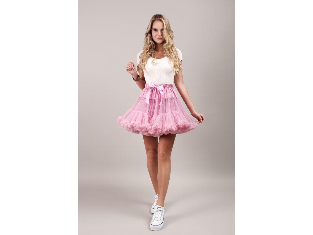 Tutu sukně dámská tylová extra - starorůžová
