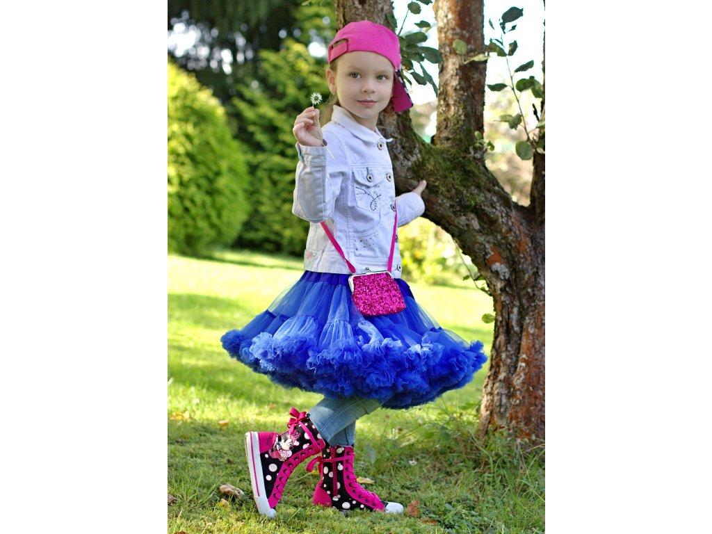 Tutu sukně dětská tylová extra - královsky modrá