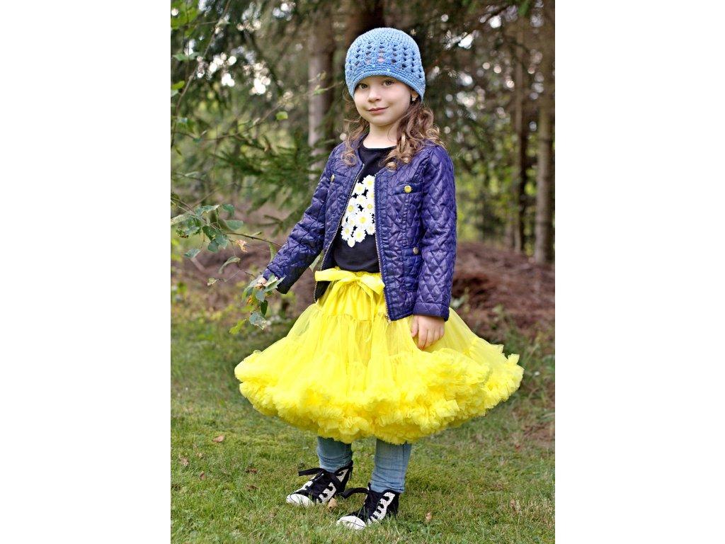 Tutu sukně dětská tylová extra - žlutá