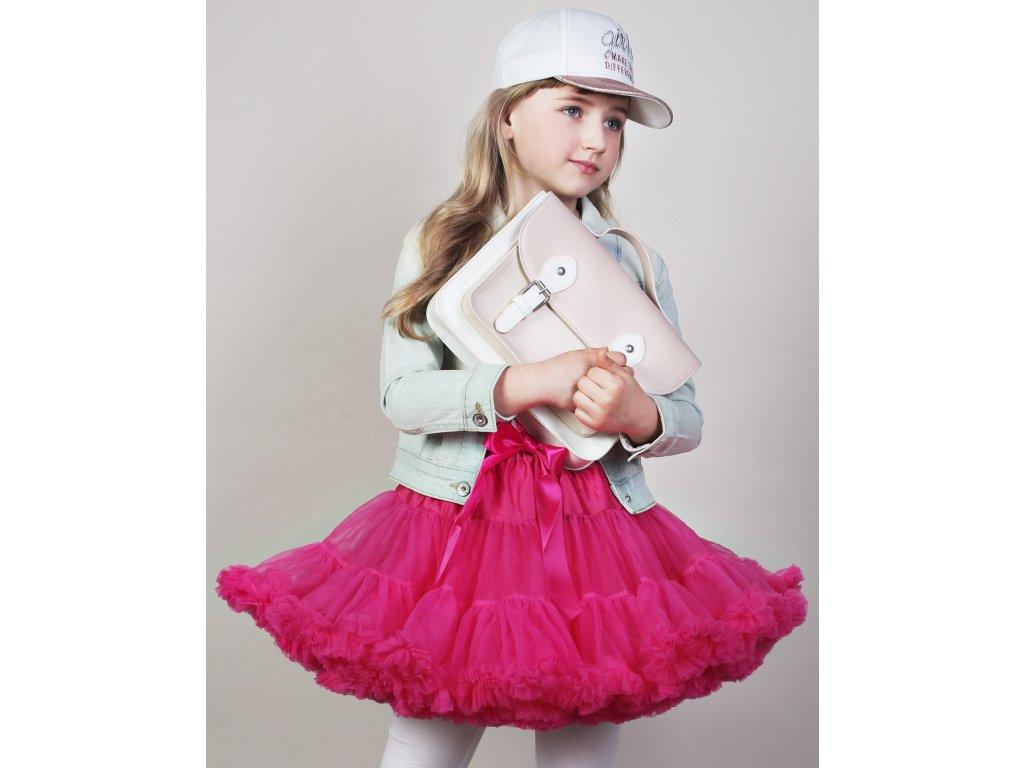 Tutu sukně dětská tylová extra - malinová