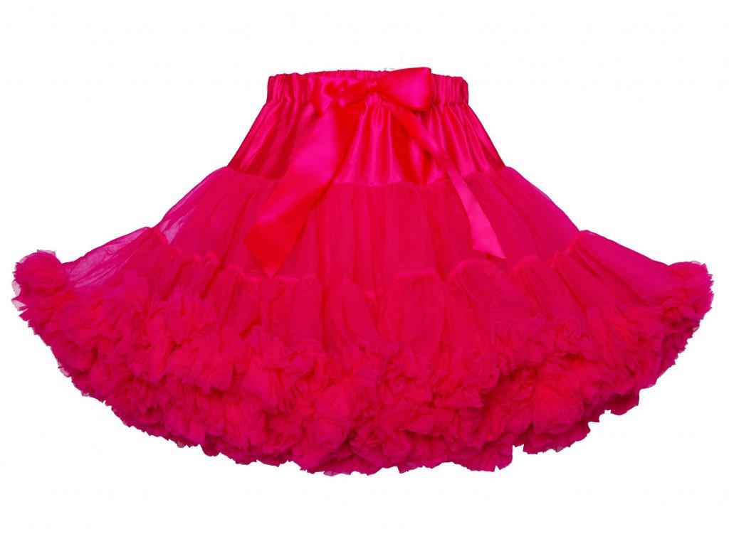 Tutu sukně dámská tylová Maxima - malinová
