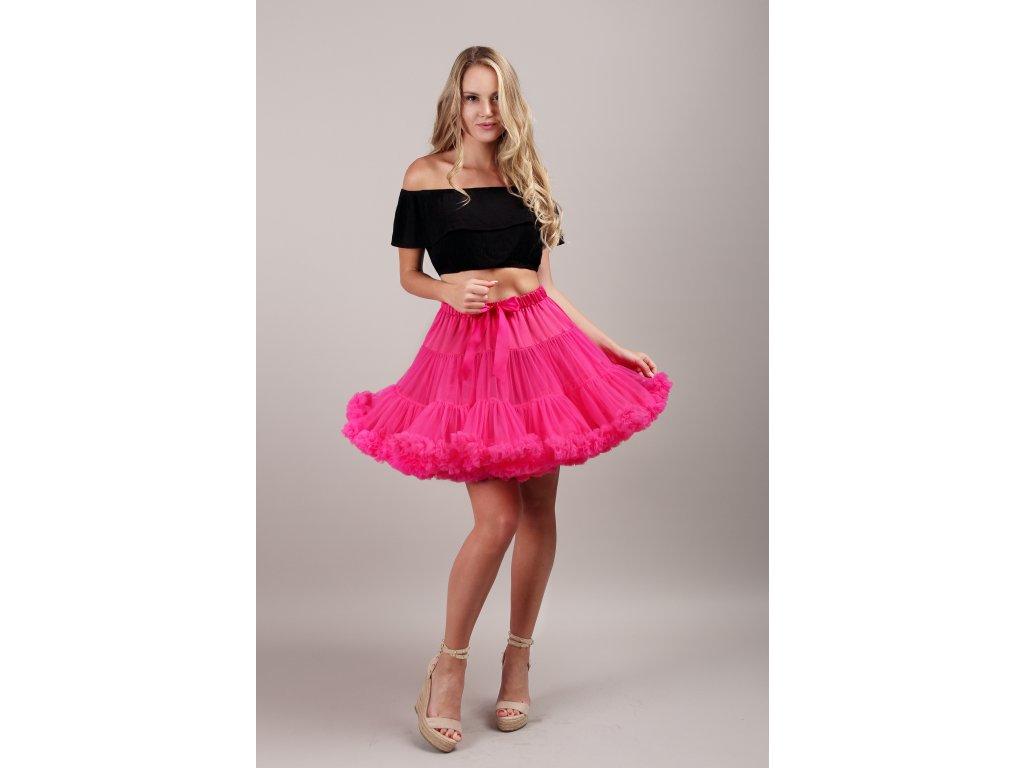 Tutu sukně dámská tylová extra - malinová